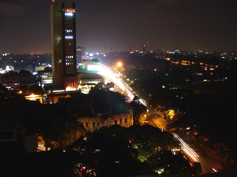 MG Road Bangalore from prestige towers