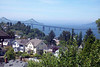The view from our deck.  The Astoria Megler Bridge connects Astoria, Oregon, with Long Beach, Washington.