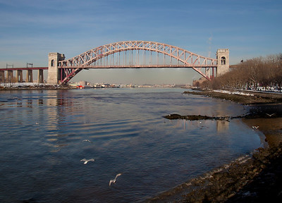 View of the Hell Gate Bridge from Astoria Park.