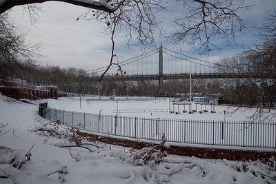 "Astoria Park's Swimming Pool, after the snow storm ""Nemo"""