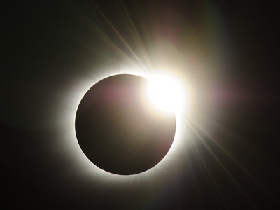 Diamond Ring appears during the longest total solar eclipse of the 21st century.  (Location: at sea near Iwo Jima)