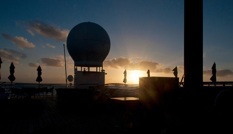Sunset with radome