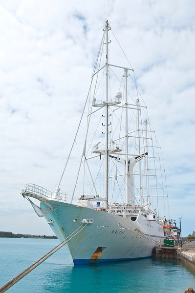 "Here she is during boarding from St George's Parish Pier on Bermuda (for more of Bermuda see <a href=""http://smu.gs/11MTjOR"">http://smu.gs/11MTjOR</a>) a few hours from weighing anchor to sail 2700 nautical miles to Lisbon."