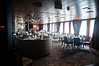 During the roughest seas breakfast and lunch were served in AmphorA as the carpeting and heavier chairs made the seated guests less likely to depart the tables unwillingly.