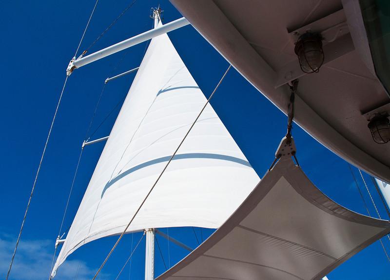 Under sail on the verandah