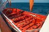 Forty-two person open life boat; given a choice I would prefer one of the covered ones.