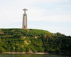 The statue of Christ the Redeemer on Corcovado above Rio de Janiero is echoed in this equally tall, but not-so-monumental figure on the south bank of the Tagus. From some angles it kind of looks like a tuning fork stuck in the ground, but is actually a carillon.