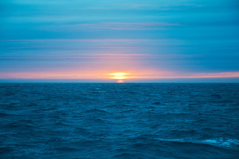 Another spectacular sunset at sea