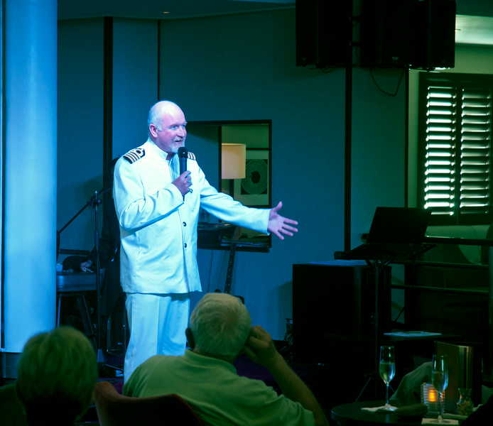 If the ship captain thing had not worked out this guy could have had a major career in stand-up comedy.<br /> <br /> I am sorry I did not record his name; we had a nice sit down with him at one point and he could not have been a happier man.