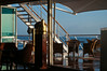 I caught the sunrises from this aft deck bar with one of the ship's company whom I titled Commissar of Sunrises.