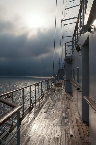 The decks are washed down every morning just before dawn; we had virtually no rain the whole week on board.