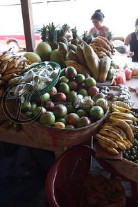 Watermelons, jocotes, mamones, papayas, pineapples, melons, bananas, plantains, cucumbers and limes. Oh my! Concepcion de Ataco, Ahuachapan, El Salvador.
