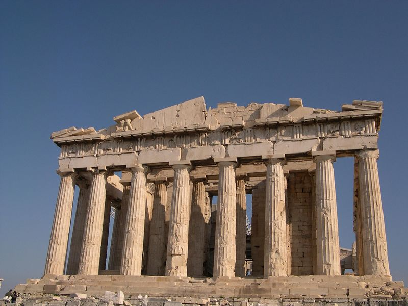 The front of the Parthenon.  The glow of the ancient stone in the December sun was gorgeous.