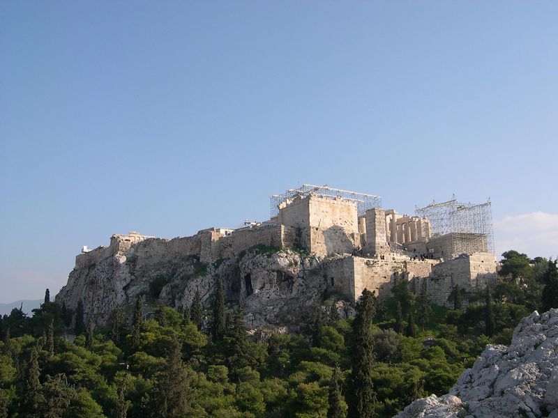 Another view of the Acropolis from Areopagos Hill.