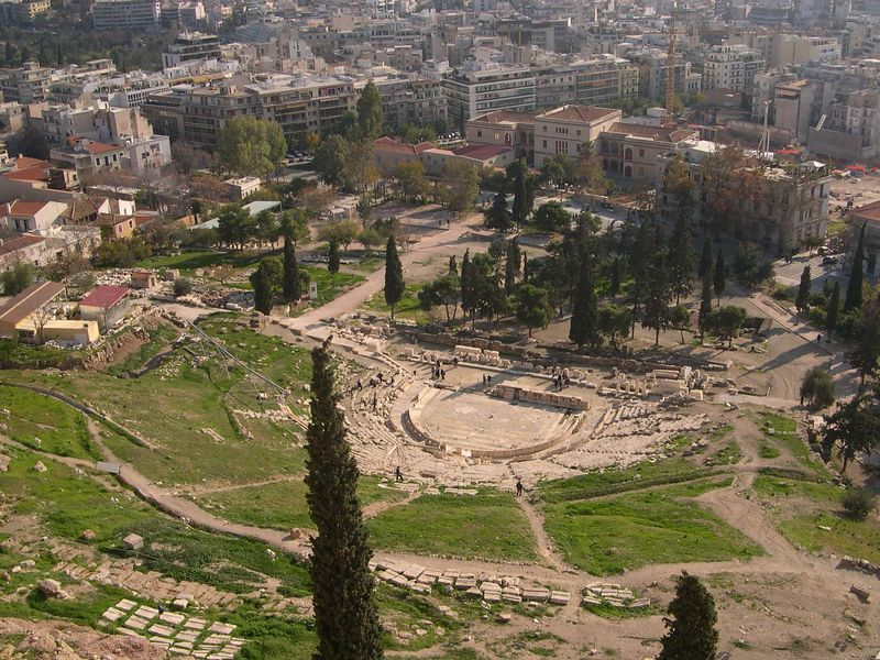 Another view of the Theater of Dionysos from the top of the Acropolis.