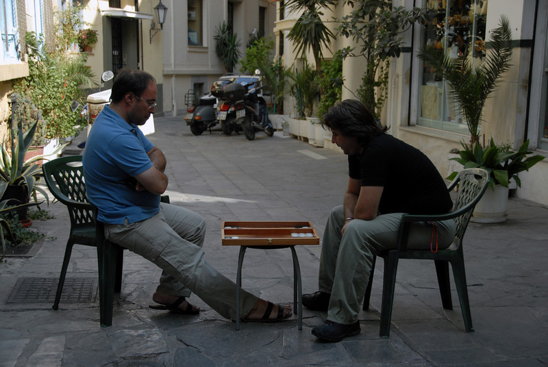 Athens - Backgammon Break in the Plaka_0736