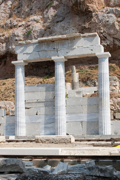 4M9F4984-33 Reconstruction of temples located along the south slope of the Acropolis.