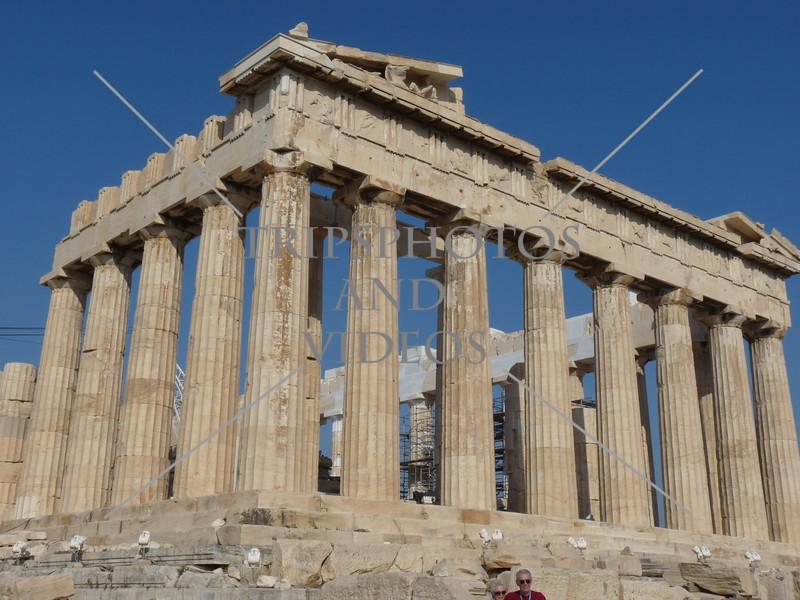 Parthenon Temple on the Acropolis of Athens, Greece.