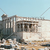 Erechtheum Temple on the Acropolis of Athens, Greece.