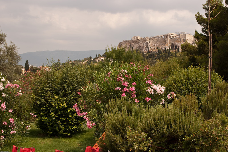 4M9F4796-1 View of the Acropolis from the fileds just outside the Ancient Agora of Athens.