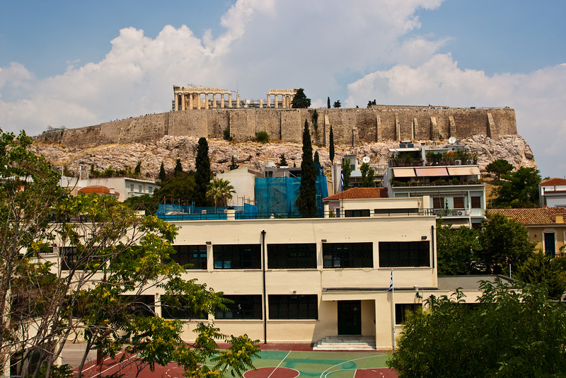 4M9F4782-1 - View of the Acropolis from the Herodion Hotel