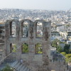 An overlook view from the Acropolis in Athens, Greece.