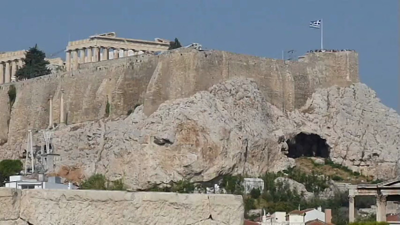 The Zeus temple ruins in Athens, Greece.
