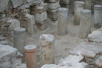 Archaeological site of Roman bath, Athens, Greece