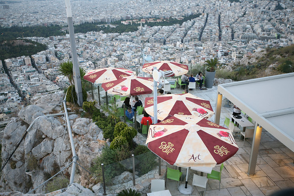 A Bar On the Top of Mt. Lycabettus, Athens, Greece
