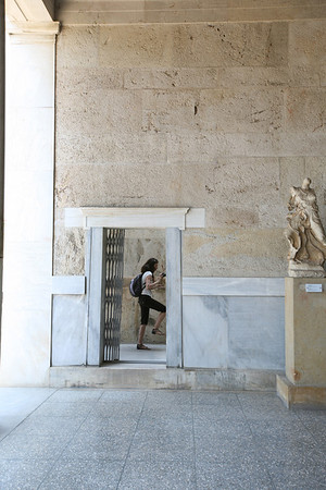 Inside the Stoa of Attalos, Athens, Greece
