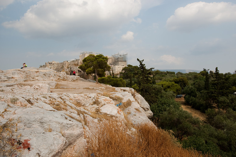 4M9F4922-1 View of the Acropolis and the Pathenon from Areopagus Hill.