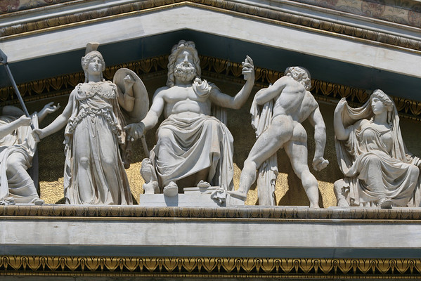 Sculptures on the Academy of Athens Building, Greece