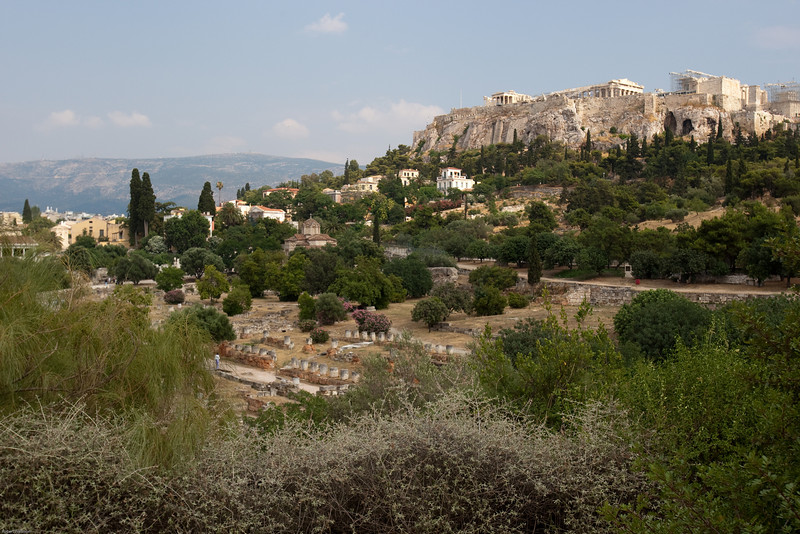4M9F4891-16 View of the Acropolis from the grounds of the Ancient Agora of Athens.