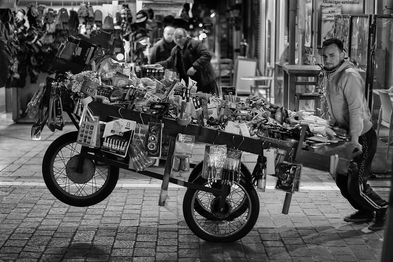 The push cart, Athens, Greece