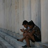 Resting in Front of The Stoa of Attalos<br /> <br /> The Stoa of Attalos was a stoa (covered walkway or portico) in the Agora of Athens, Greece. It was built by and named after King Attalos II of Pergamon, who ruled between 159 BC and 138 BC.<br /> <br /> The stoa was in frequent use until it was destroyed by the Heruli in 267. The ruins became part of a fortification wall, which made it easily seen in modern times. In the 1950s, the Stoa of Attalos was fully reconstructed and made into the Ancient Agora Museum, by the American School of Classical Studies at Athens, with funding donated by the Rockefeller family.