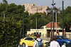 The Acropolis seen from Downtown Athens.