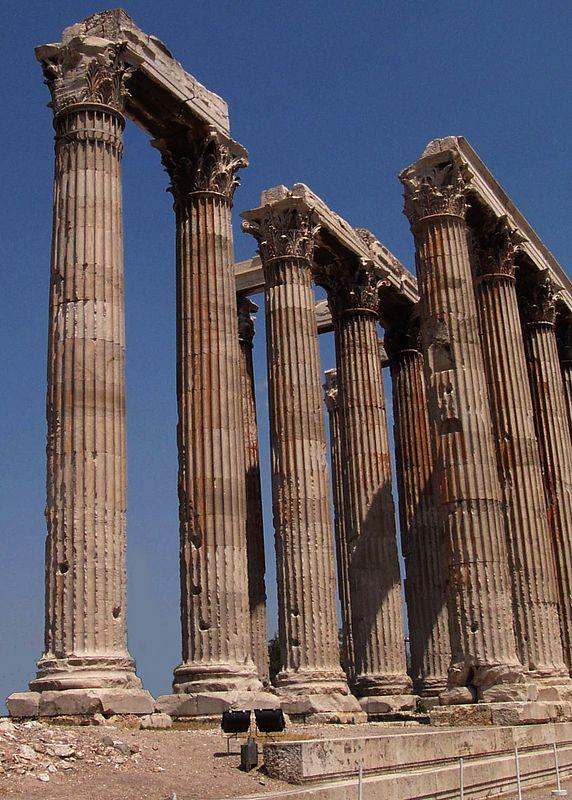 Temple columns.