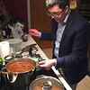 Seamus Taaffe, Friday night dinner at his and Miriam's house. October 28, 2016.