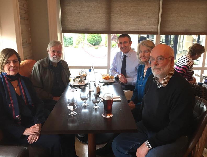 Zaz Shackleton, Bob Headland, Brian O'Gorman, Meredith Hopper, Rob Stephenson at the Clanard Court Hotel, Athy. October 28, 2016.