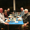 Dinner at Austie's, Rosses Point, Co Sligo, October 19, 2016. Joe O'Farrell, Geraldine McAdam, Jim McAdam. Michael Smith and Rob Stephenson.