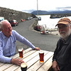 A pint at the Pier Head Hotel, Mullaghmore, Co. Sligo. October 20, 2018. Joe O'Farrell, Rob Stephenson.