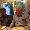 Dinner at Medbh Gillard's house in Rosses Point, October 19, 2019. Peter Carney, Joe O'Farrell.