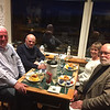 Dinner at Austies, Rosses Point. October 18, 2019. Joe O'Farrell, Jim and Geraldine McAdam, Rob.