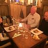 Dinner at The Seafarer in Letterfrack. October 20, 2019. Joe O'Farrell, Jim & Geraldine McAdam.