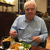 Michael Smith enjoying fish and chips in Midleton before his talk. October 25, 2016.