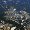 Aerial view of Fulton County Airport in Atlanta, Georgia.