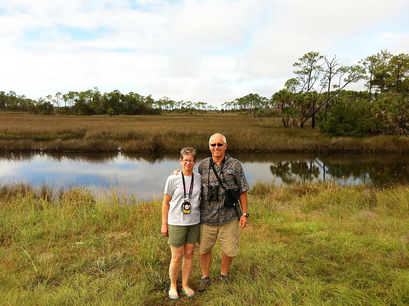Larry took us on a day trip to the Gulf Coast.  Here were are at a nature preserve.