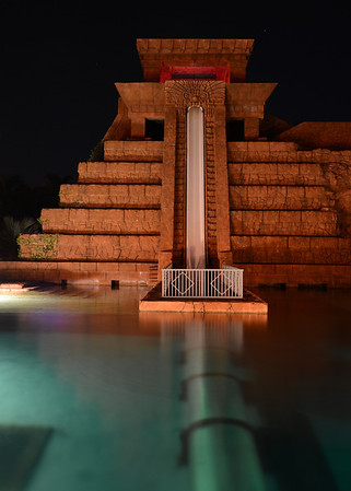 Mayan Temple at Night