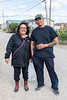 Denise Lantz with Andrew Sutherland in Attawapiskat 2018 September 5.