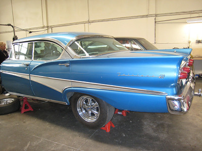 The Fairlane at Shane's workshop.  It'll be ready in time for Gene's wedding.